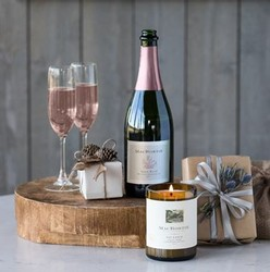 Luminate & Sparkle: Brut Rosé & Candle